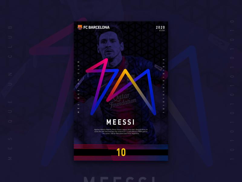 MEESSI 700 海报 design