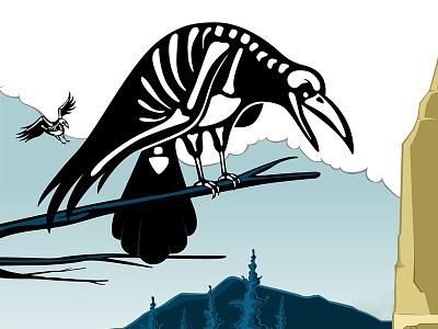 Crow bird crow animal 2d vector illustration