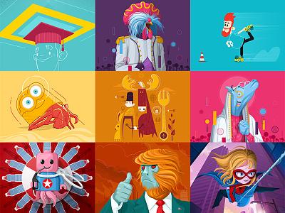 Best of 2018 illustator character design animal vector 2d illustration