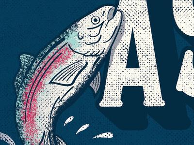 Aspen Salmon Poster