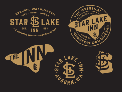 Star Lake Inn Branding/T-Shirt Designs