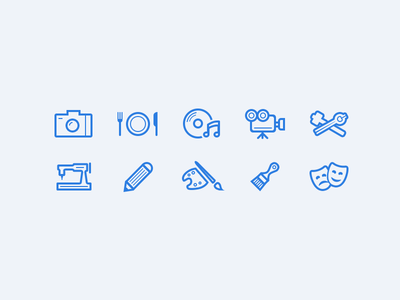 Artist Line Icons