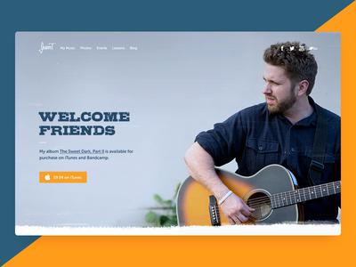 Jasper T. - Musician's Website songs music itunes ui guitarist guitar musician landing home welcome