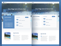 Swim & Tennis Club website preview