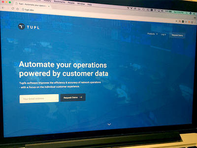 Network Ops AI cta request demo demo button form ui blue web ai customers operations automate