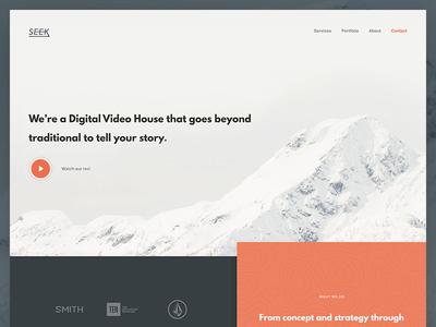 Seek Homepage (unused) video cta validation ui creative play button mountain homepage