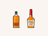 Bourbons - Bulleit & Makers