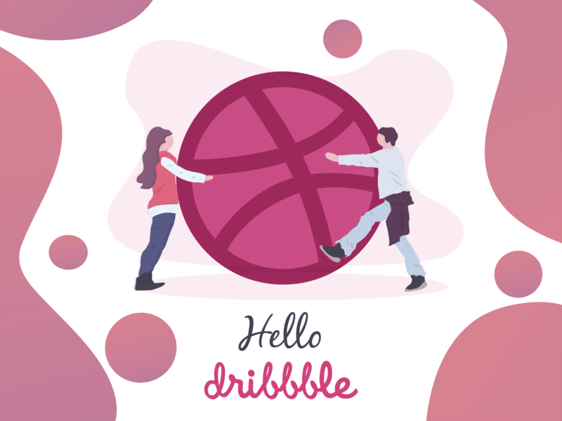 Hello Dribbble! ui ux vector branding design illustration