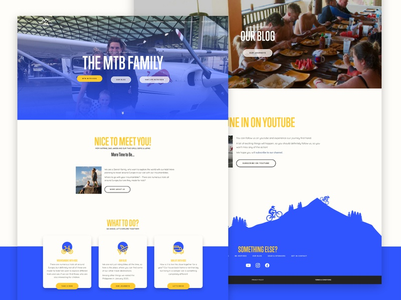 THE MTB FAMILY LANDING PAGE vector ux branding design footer design footer wordpress design wordpress website builder ui design uidesign ui  ux uiux ui website concept website design website