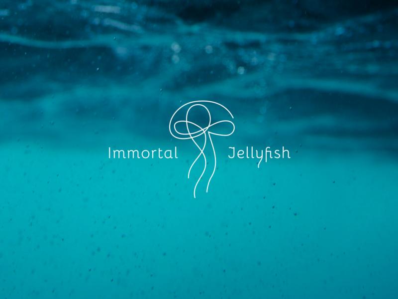 Logo Design - Immortal Jellyfish typography design figmaafrica figma illustration logodesign logo design logo