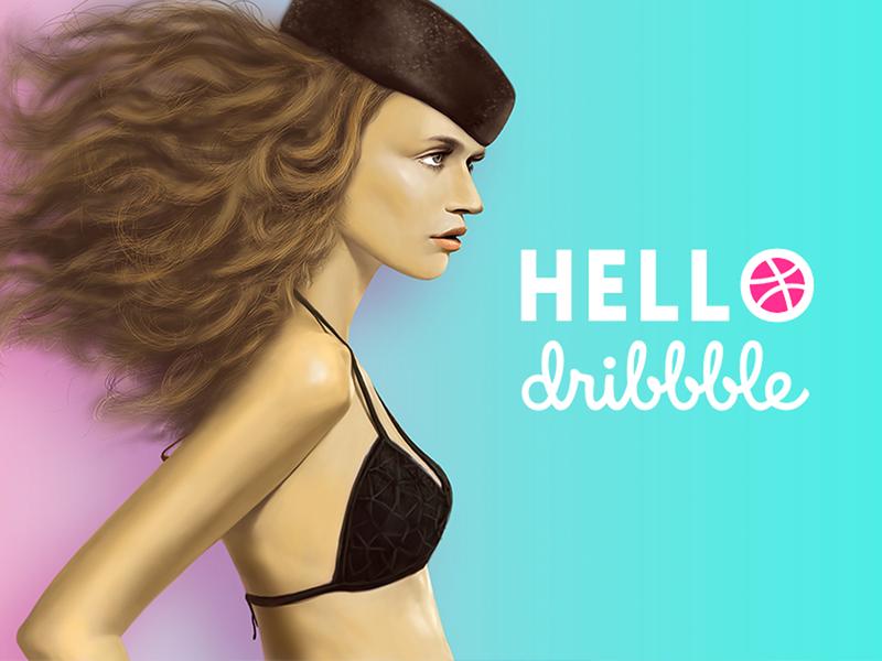 Hi Dribbble hi dribbble first shot design illustration