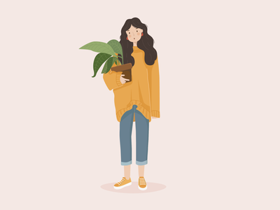 Girl with plant🌱