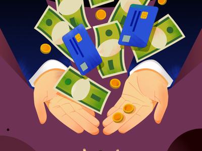 charity scam texture affinitydesigner newsletter illustration people hand card editorial illustration editorial money