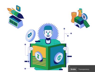 bitcoin news cryptocurrency bitcoin trading design digital indonesia icon vector illustration