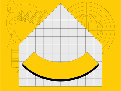 Stay safe and healthy clean mask smile yellow pandemic digital indonesia icon vector illustration