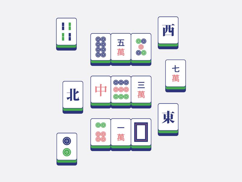 mahjong play infographic book strategy china chinese mahjong card vector illustration
