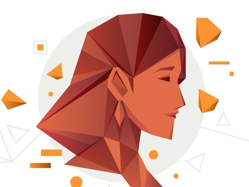 virgo 06 indonesia people design editorial illustrator digital icon vector illustration