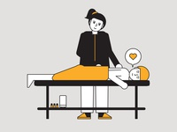 massage black yellow love people icons people design illustrator editorial vector illustration