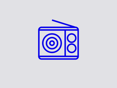 gaga signage blue radio minimal illustrator editorial digital icon vector illustration