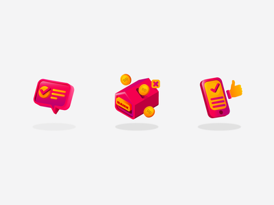 shopping icons money app correct thumb money magenta ux illustrator ui icon vector illustration