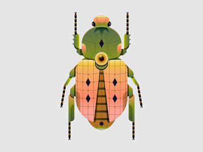 Cotinis Diamonus nft bug animal insect design digital indonesia icon vector illustration