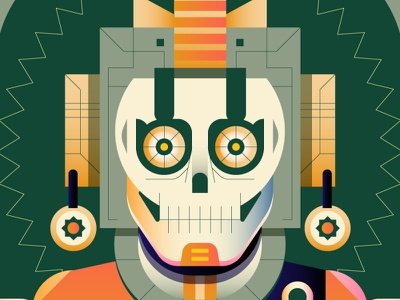 Tribal skull illustrator nft tribal tribe skull design digital icon vector illustration