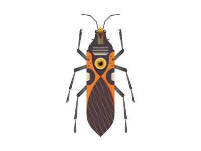 Oncopeltus digitalus crypto nft insect bug animal design digital icon vector illustration