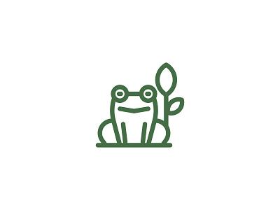 Froggie icon simple lineart animal frog editorial digital indonesia icon vector illustration