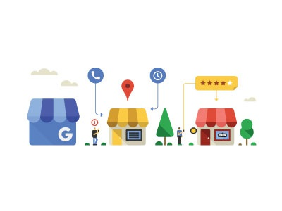 Small Business city building jakarta indonesia illustrator infographic google icon flat design vector