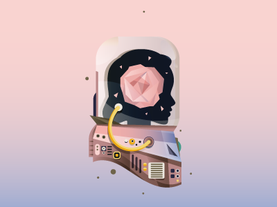 Astronaut illustration wallpaper space digital vector pantone serenity rose quartz astronaut cosmonaut