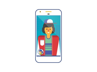 Dustin pixel iphone building illustrator simple stranger things dustin blue icon flat phone character