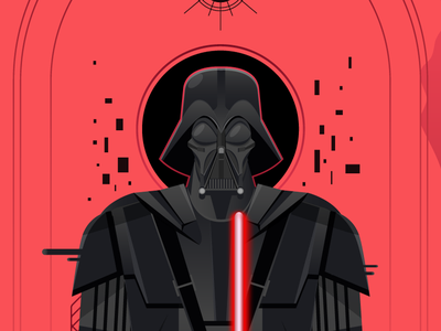 May the Forth be with You digital vector red pink black star wars force movie sith jedi darthvader starwars
