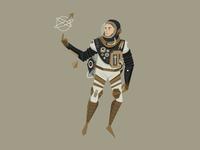 Retro Cosmonaut