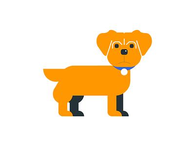 Yorkie icon illustration calendar animal flat brown terrier yorkie infographic dog