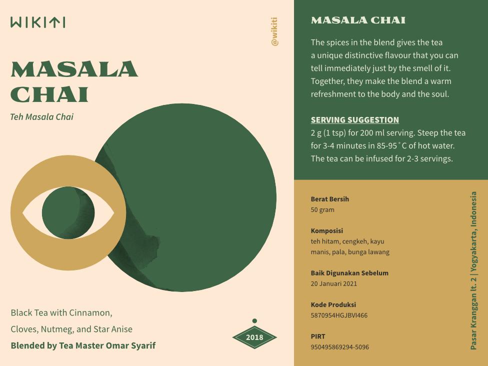 Masala christmas design texture indonesia packaging tea green eye illustration
