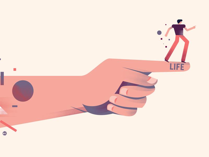 LIFE magazine graphic hand vector icon editorial jakarta design digital illustration