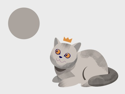 Cat texture moon king british character affinity designer vector grey animal cat