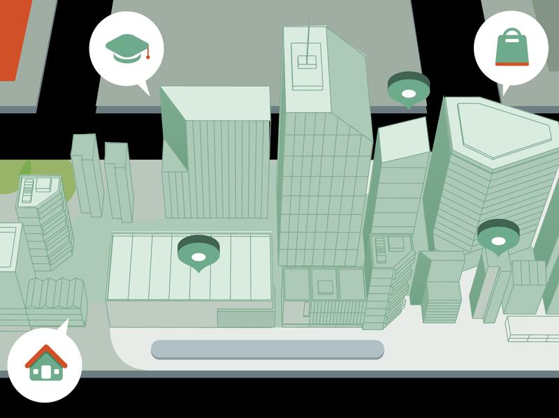Location jakarta city application app ui ux editorial illustrator digital branding logo icon indonesia vector illustration
