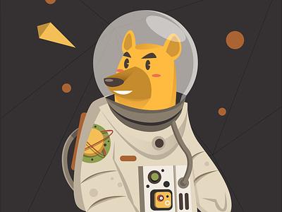 Astro doge space animal dog ui design illustrator digital vector illustration astronaut