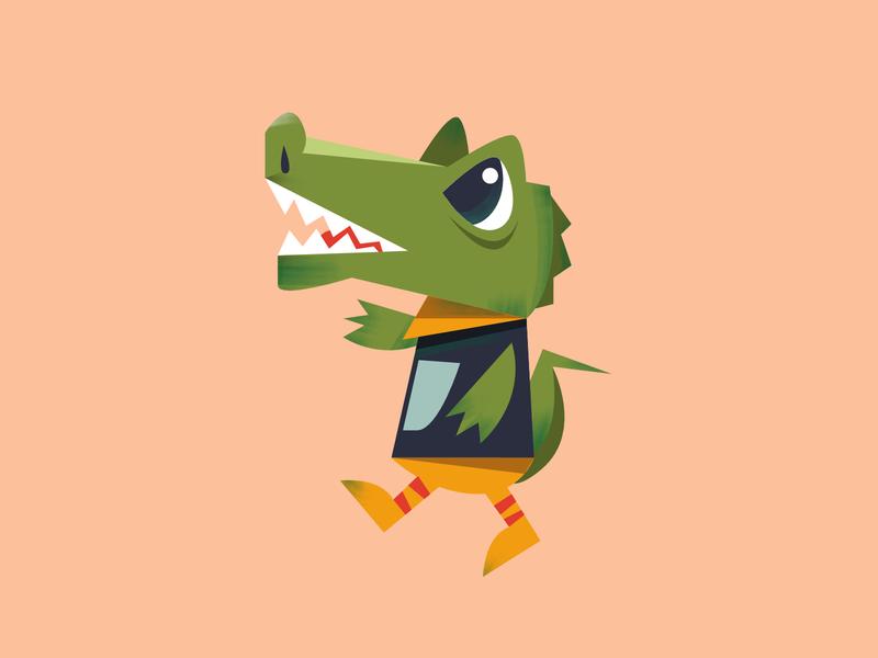 Biyi indonesia animal jakarta editorial design digital icon vector illustration