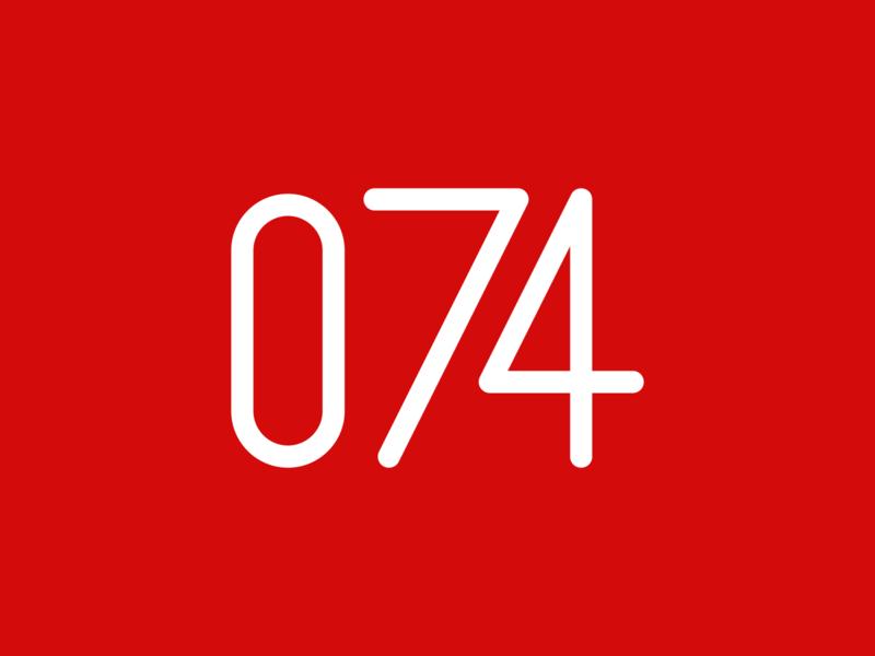 RI74 number logo design digital indonesia icon vector