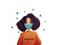 Quarantine! stay safe! stay home stay safe quarantine corona procreate illustration
