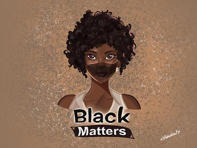 Black lives matter🖤 women illustration black digital illustration art characterdesign procreate illustration