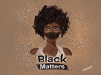 Black lives matter🖤 women illustration black digital illustration art characterdesign procreate illustration