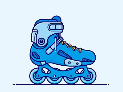 roller skating stroke illustration