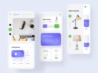Smart Home App minimal home smartapp home automation controller concept graph smarthome colors app ux ui design