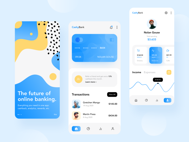 Personal Finance App fintech app mobile design mobile app bank fintech finance banking app banking concept app minimal colors ux ui design