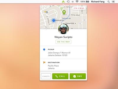 Gojek for Mac widget app mac gojek