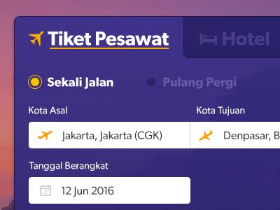 Tiket Pesawat flight search form