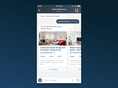 Chat Commerce Exploration interface design commerce chat bubble chat